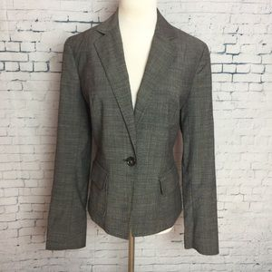 TALBOTS 8 Blazer Suit Jacket One Button Career